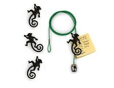 Cable Photo Holder w/ Magnets Monkey Black - Wire Green by Kikkerland