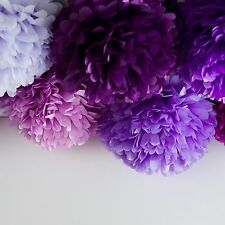 60 tissue paper pompoms - 6 sizes - wedding party decorations - multi color