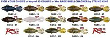 Strike King Rage Shellcracker Soft Plastic Any Color RGSC Bedding Bass Fish Lure