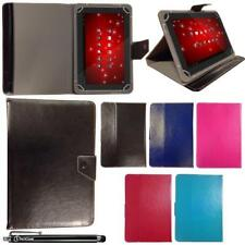 "Universal Leather Wallet Case Cover Stand For 10.1"" inch Tablet & Stylus Pen"