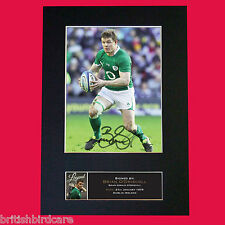BRIAN ODRISCOLL Quality Reproduction Autograph Mounted Photo Print A4 572