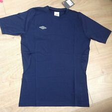 Umbro SS Crew Base Layer Shirts Navy Blue ideal for Football... New NWT 61467U