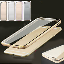 Aluminum Metal Clear Back Case Ultra-Thin Cover Bumper SKin for iPhone 5S 6+Plus