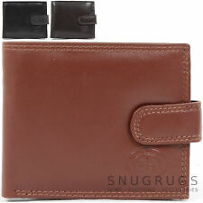 Mens Soft Leather Bi-Fold Money / Coin Wallet with Multiple Features