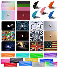 "Keyboard Cover +Rubberized Matte Hard Case for Macbook 12""Pro 13/15"" Air 11/13"""