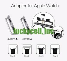 Watch Band Adapter For All Apple Watch Series 4 3 2 1 Band Connection + Tool