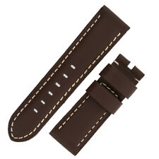Panerai Style Calf Leather Watch Strap in CHOCOLATE BROWN