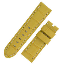 Panerai Style Alligator Embossed Watch Strap in YELLOW