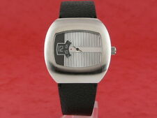 SILVER Traditional Dress Digital Jump Hour 70s led lcd era Vintage Retro Watch