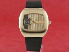 GOLD Traditional Dress Digital Jump Hour 60s 70s led lcd era Vintage Retro Watch