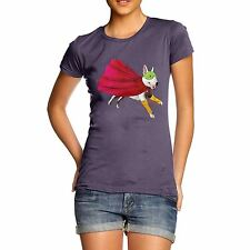 Twisted Envy Women's Super Hero Bull Terrier 100% Organic Cotton T-Shirt