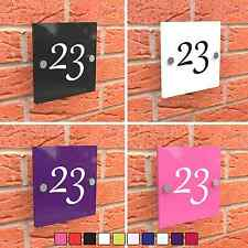 Door House Sign Plaque Number Colour Acrylic Glass Effect Wall Acrylic Display