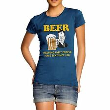 Twisted Envy Women's Beer Helping Ugly People 100% Organic Cotton T-Shirt