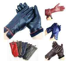 Ladies Womens Soft Real Leather Lined Warm Winter  Gloves M SIZE