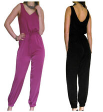 Ladies Jumpsuit Womens Playsuit Black Catsuit Evening Size 8 10 12 14 16 18