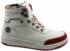 Timberland Iteza Roll Top Mens Boots White Leather Lace Up Casual (6053A U71)