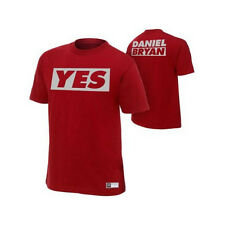 """Official WWE - Daniel Bryan """"Yes"""" Maroon Authentic T-Shirt"""