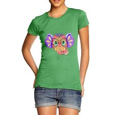 Twisted Envy Women's Tribal Elephant Organic Cotton T-Shirt