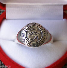 The EYE DI HORUS EGIZIANO GOD RA .925 ANELLO ARGENTO STERLING by Peter Stone