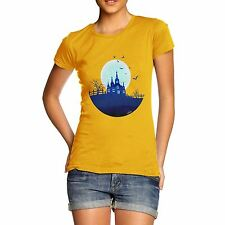 Twisted Envy Women's Haunted Mansion On the Hill Organic Cotton T-Shirt