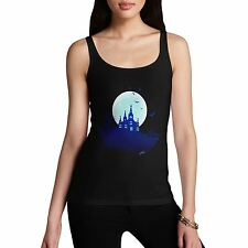 Twisted Envy Women's Haunted Mansion On the Hill Organic Cotton Tank Top