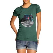 Twisted Envy Women's Haunted House Beyond The Mist Organic Cotton T-Shirt