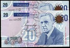 new 2012 (northern) DANSKE bank ltd belfast £20 banknote real N Ireland currency