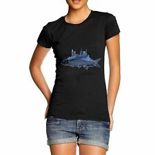 Twisted Envy Women's Fish City Organic Cotton T-Shirt