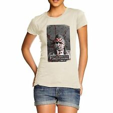 Twisted Envy Women's Blood Splatter Mugshot Organic Cotton T-Shirt