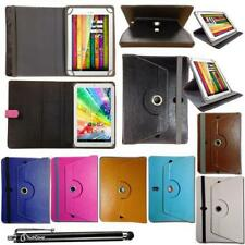 "Synthetic Leather Case Fllip Cover Wallet Book for 10.1"" inch Tablet + Stylus"