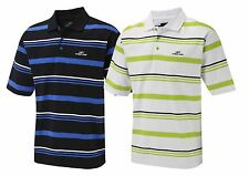 Cypress Point A righe T-Shirt Polo Da Golf Nero/Blu Elettrico Taglie M,L,XL,XXL