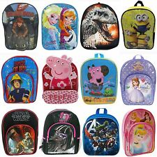 DISNEY AND CHARACTER CHILDRENS BACKPACKS RUCKSACKS SCHOOL BAGS - BOYS GIRLS