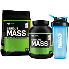 SU Optimum Nutrition Serious Mass 5.4kg Weight Gainer Aumento+Neon