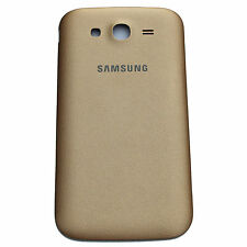Stylish Gold Leather Finish Battery Back Cover Panel Housing For Samsung Phones