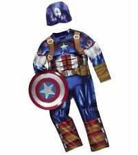 NEW Boys Marvel Captain America Fancy Dress Up Costume