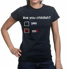 Are You Childish Funny Nob Offensive Knob Bell End Ladies Womens T shirt