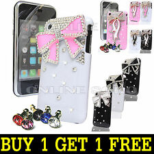 FOR APPLE iPHONE 3 3G 3GS LUXURY CRYSTAL DIAMOND CASE DIAMANTE BLING HARD COVER