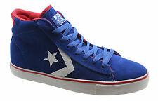 Converse All Star Pro Lea Leather Suede Vulc Mid Blue Mens Trainers 135658C WH