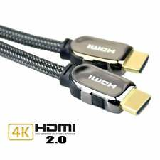 HDMI Cable v1.4 Premium Braided & Flat HDTV 1080P 3D ARC CES Lead - PS4 Xbox One