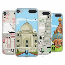 HEAD CASE DESIGNS DOODLE CITIES SERIES 3 SOFT GEL CASE FOR APPLE iPOD TOUCH MP3