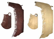 Western CHAPS Suede Cowboy CHAPS Westernchaps Fringe brown + sand