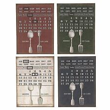 Nostalgic Metal Sign Permanent Calendar Calendar Bistro le Cafe Tin metal new