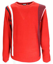 Relco Red  Retro Sixties Mod Mens Racing Jumper