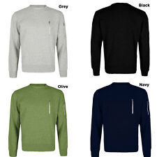 Men's Stylish Sweater Sweatshirt Zip Top Detail Crew Neck Pullover Top Jumper