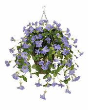 House of Silk Flowers Inc. Artificial Petunia Hanging Plant in Square Basket
