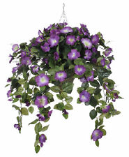 House of Silk Flowers Inc. Artificial Petunia Hanging Plant in Beehive Basket