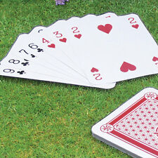 A3 / A4 Giant Jumbo Plastic Coated Playing Cards Deck 37 - 28cm Garden BBQ Game