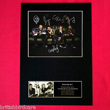 COLDPLAY Mounted Signed Photo Reproduction Autograph Print A4 190