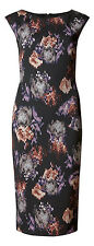 Marks & Spencer Unfocussed Floral Print Fitted Sleeveless Shift Dress Orig Price
