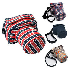 Small DSLR SLR Camera Shoulder Bag Padded Insert Pouch Canon Nikon Sony Pentax
